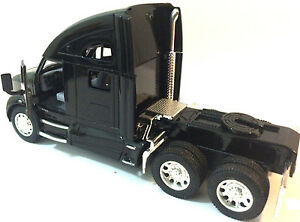 Kinsmart-1-68-scale-Kenworth-T700-tractor-Truck-Cab-diecast-model-PullBack-Black