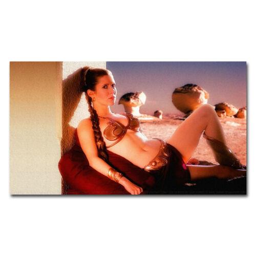 Carrie Fisher Princess Leia Organa Star War Movie USA Actor Art Silk Poster