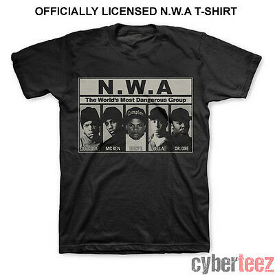 NWA (N.W.A.) Worlds Most Dangerous Group Compton CA T-Shirt New LICENSED S-4XL