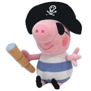 Ty Beanie Baby Peppa Pig - Pirate George Plush Soft Stuffed Doll Toy