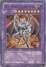 YUGIOH Evil Hero Dark Gaia Deck + Dark World & More Complete 40 - Cards + Extra