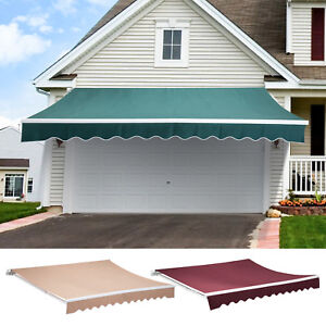Patio-Manual-Retractable-Deck-Awning-Sun-Shade-Shelter-Canopy-Outdoor-Multi-Size