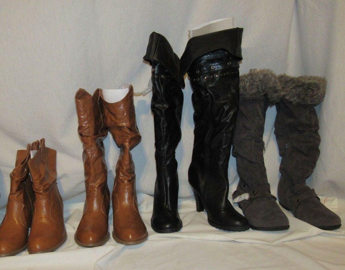 NEW BAMBOO WOMENS SIZE 6 6.5 BLACK/TAUPE/GR<wbr/>AY BOOTS/ANKLE BOOTIES PICK FAVORITE