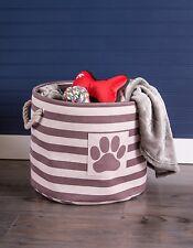 Dog Cat Pet Toy Storage Box Basket Bin Supplies Puppy Stuff Treats Chest  9x12x12