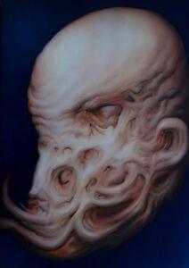 Oil Painting EDGAR BALOGH Flesh Tones Nude Strange
