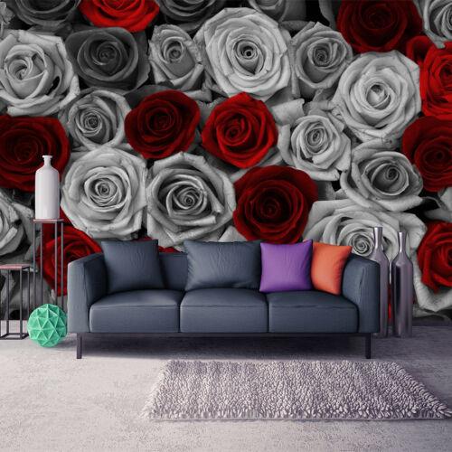 Fototapete XXL Rose Rot Blumen Schlafzimmer Wohnzimmer Tapete Wandtapete 51