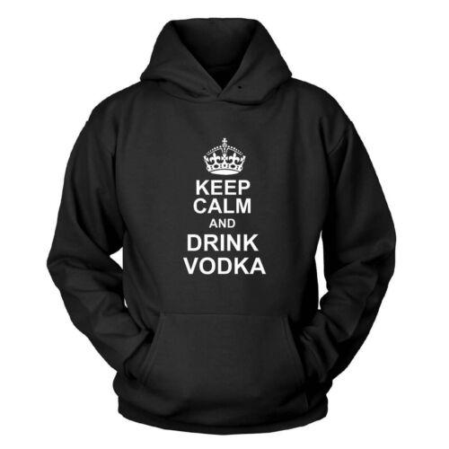 Keep CALM and DRINK VODKA con Cappuccio Pullover