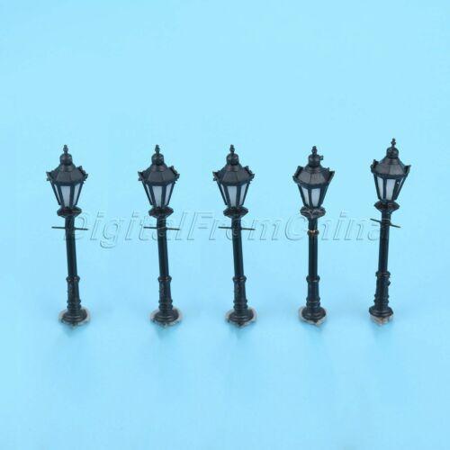 10Pcs Single Head Model LED Lamppost Lamps Railway Street Lights HO Scale 1:150