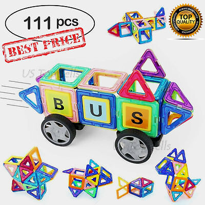 76Pcs Mini Magnetic Building Blocks Construction For Kids Toys Educational Block