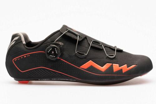 NORTHWAVE FLASH Vélo De Route Cycle Chaussures noir UK12 EU46 30 cm RRP £ 139