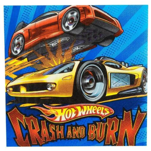 Hot Wheels Speed City Lunch Dinner Napkins 16 Luncheon Napkins Per Package NEW