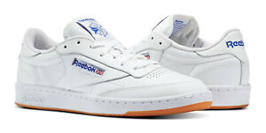 Reebok-Classic-Club-C-85-White-Royal-Gum-Mens-Sneakers-Tennis-Shoes-AR0459