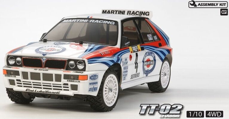 Tamiya 58570 Lancia Delta Integrale 4WD RC Kit - DEAL BUNDLE w  STEERWHEEL Radio