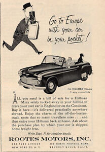 1952 rootes motors inc hillman minx two door convertible English motors inc