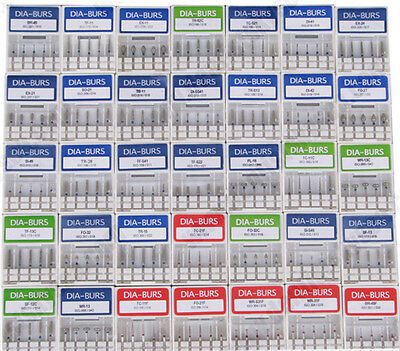 100X Dental Diamond Burs for High Speed Handpiece Medium FG 1.6M Brand New Pro L