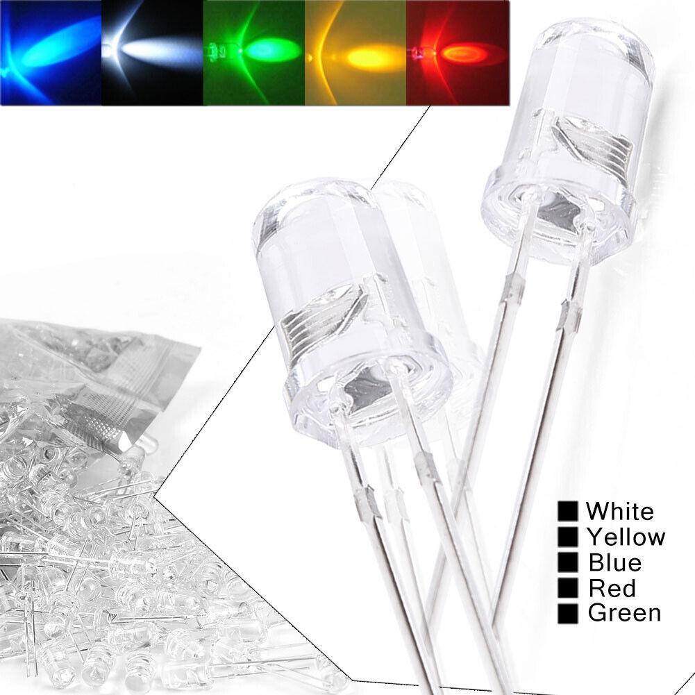 100 pcs x Superbright 10mm Round Yellow LED Light Lamp ultra bright light