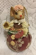 Katherine's Collection Seamstress Mouse Ornament  Sewing on a Button Adorable