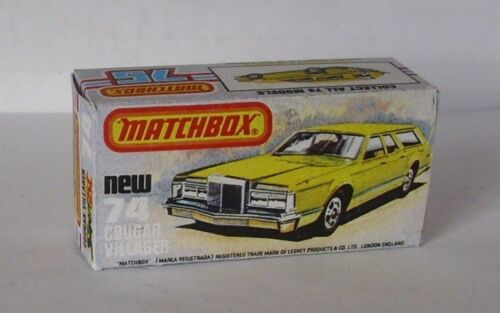 REPRO BOX MATCHBOX SUPERFAST n 74 COUGAR Villager
