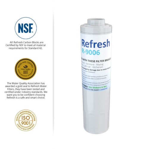 2 Pack Refresh Replacement Water Filter Fits Maytag MFC2061HEW Refrigerators