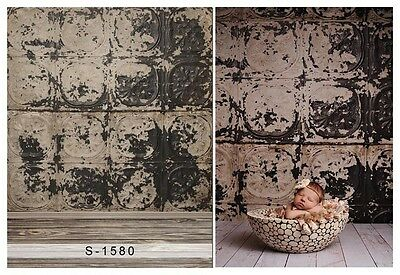 Fade Wall Wooden Floor Baby Photography Backgrounds 3x5ft Vinyl Photo Backdrops