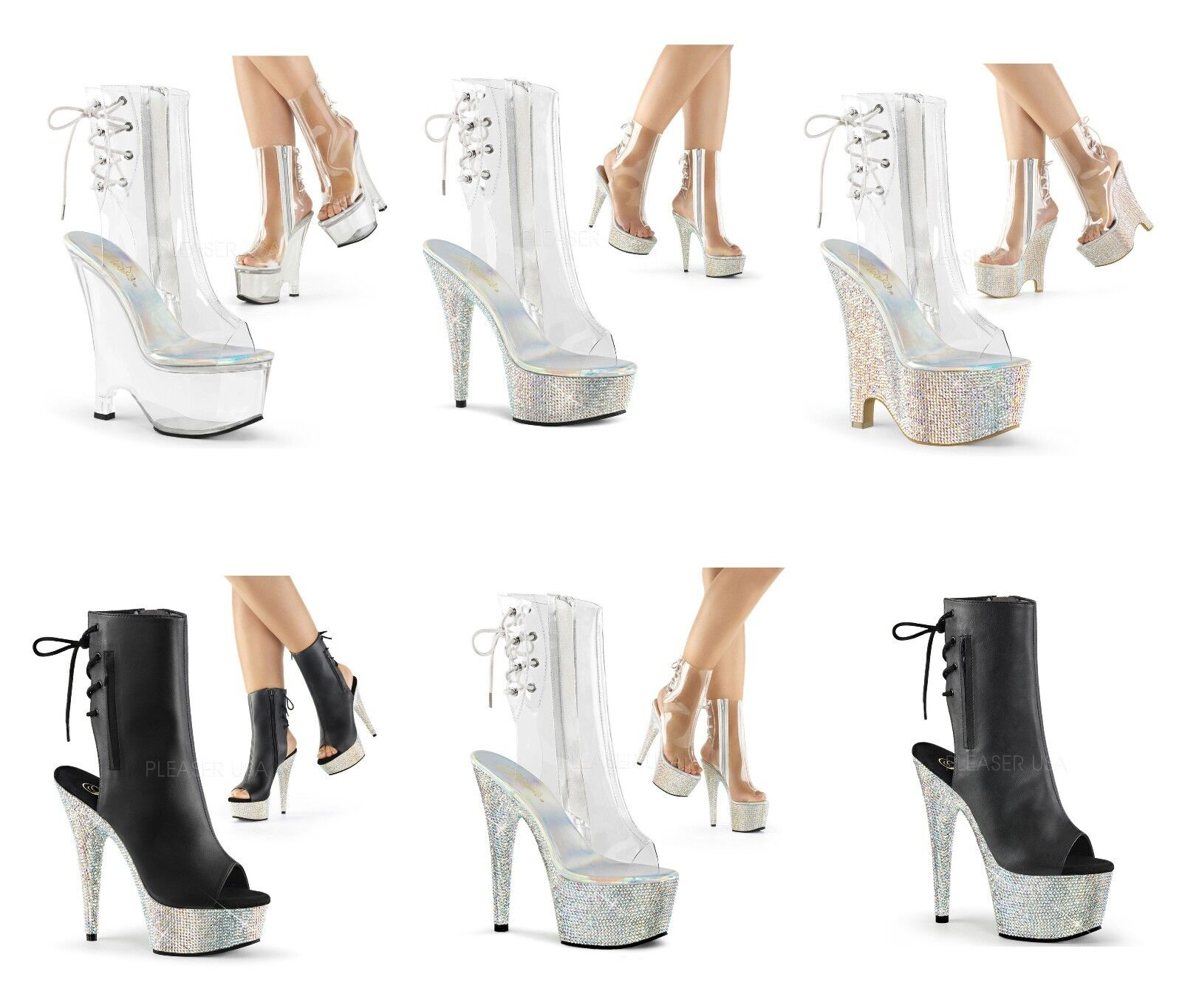 marchio famoso PLEASER BEAU-1018 BEJEWELED-1018 Exotic Dancing Platform Ankle Ankle Ankle avvio  buon prezzo