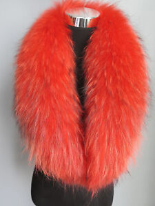 2018New made Genuine raccoon fur collar / wrap / scarf