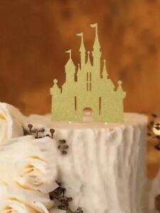 Astonishing Gold Disney Castle Happy Birthday Cake Topper Princess Castle Ebay Funny Birthday Cards Online Inifofree Goldxyz