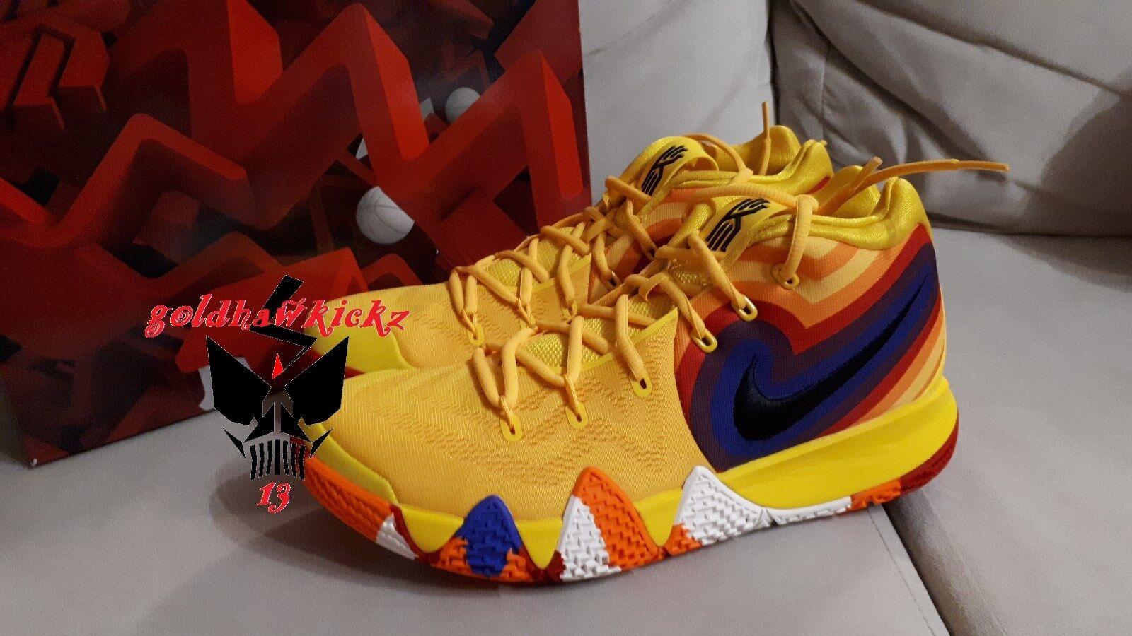 Nike kyrie 4 70s 943806 700 amarillo yellow celtics Multicolor MC decade pack