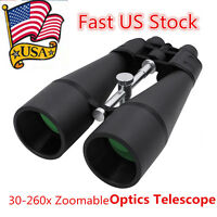 Fully Coated 30-260x Zoomable Binoculars Night Vision Optics Telescope Us Fast