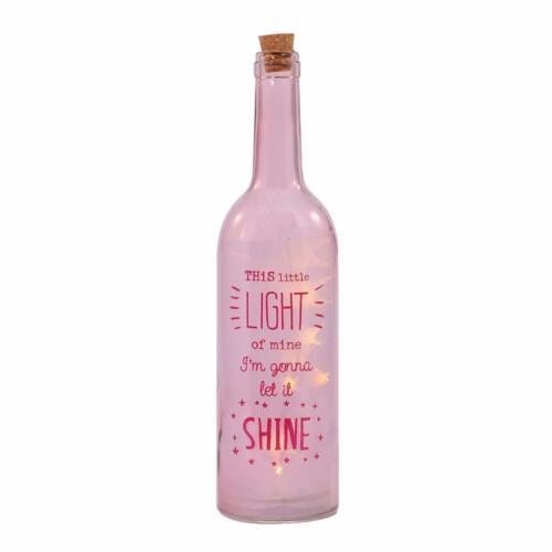 Let It Shine Light Up Bottle LED Bottles Gift 54045