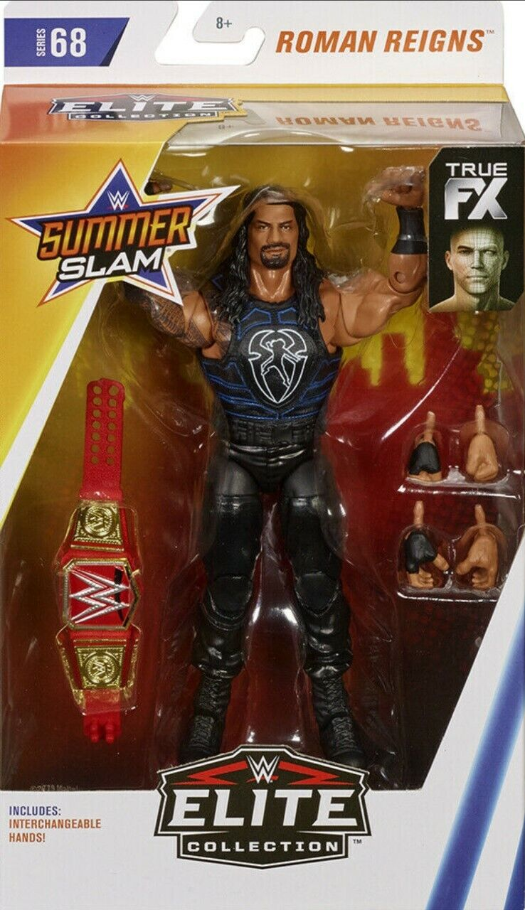 Wwe Roman Reigns Gürtel Wwf Sommer Slam Mattel Elite Serie 68 Wrestling-Figur