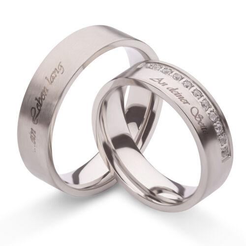 Verlobungsringe Trauringe Freundschaftsringe Eheringe Ringe Silber Zirkon Gravur
