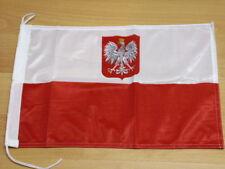 Fahnen Flagge Polen Wappen Bootsfahne Tischwimpel - 30 x 45 cm