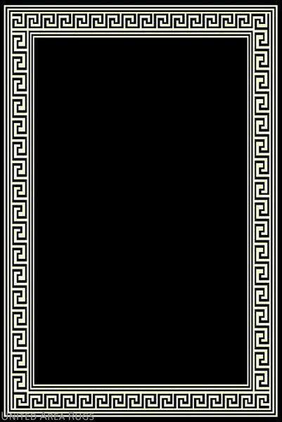 5x7 Area Rug Modern Greek Key Design