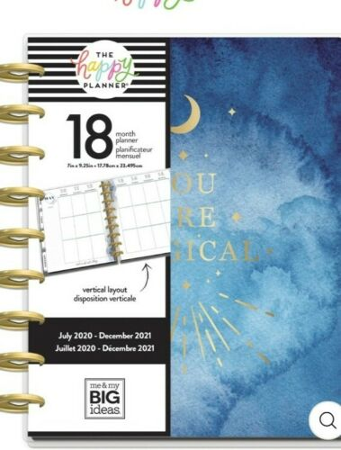 THR HAPPY PLANNER CLASSIC VERTICAL 18 MONTHS BOHO STARGAZER YOU ARE MAGICAL MOON
