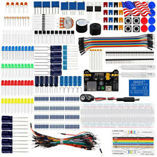 Electronics Component Basic Kit With830 Tie Points With Box Breadboard Resistor Diy