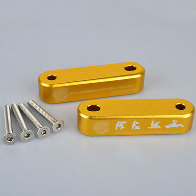 Gold Aluminum Hood Spacer Risers Set Kit for Honda Civic 92-95EG/96-00EK