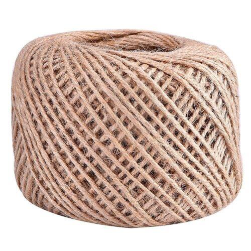 100M Natural Yute Cordel bola regalo de envoltura de bricolaje Cordón Soga de Cáñamo Cadena de Bola