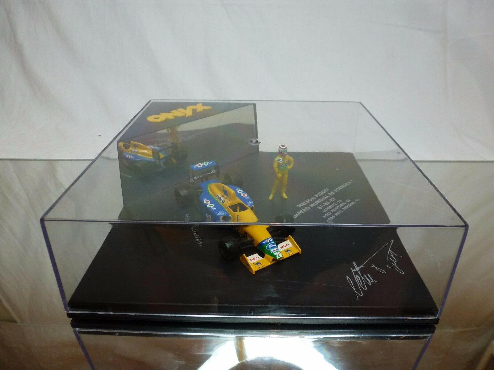 ONYX BENETTON FORD B191 CAMEL - NELSON PIQUET WORLD CHAMPION F1 81 83 87 - RARE