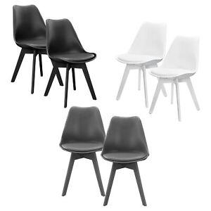 En Casa Design Stuhle 2er Set Esszimmer Stuhl Kunststoff