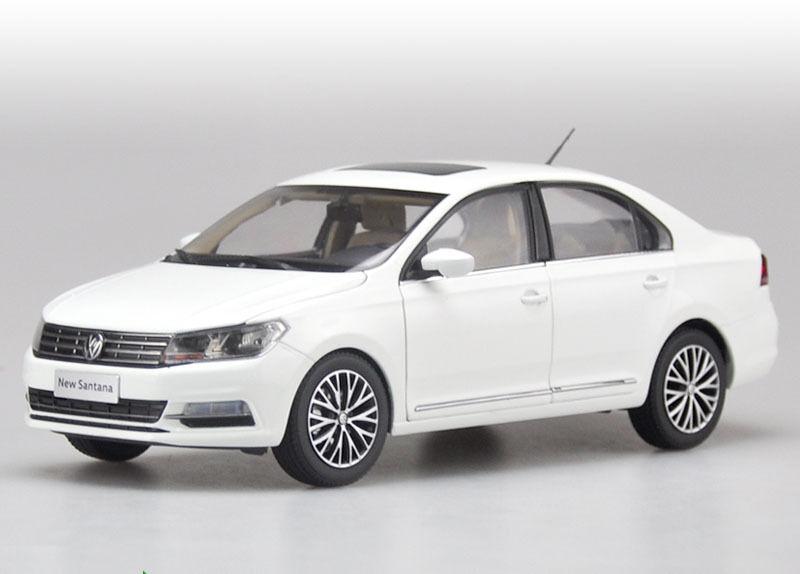 1 18 2017 todas las nuevas Volkswagen Santana Modelo Color blancoo + Regalo