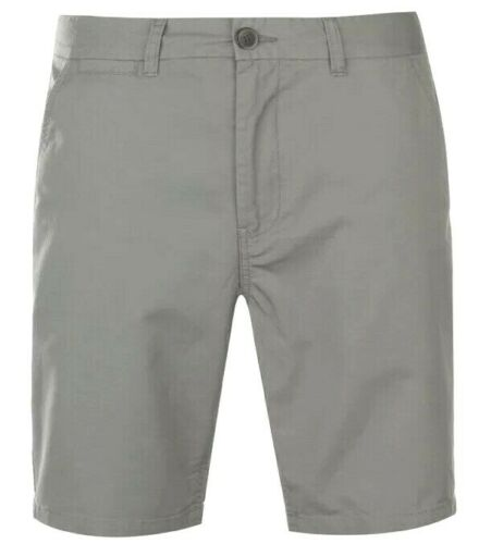 New Mens Pierre Cardin Chino Shorts Charcoal Size L