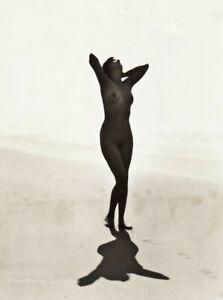 1927-Original-EDWIN-BOWER-HESSER-Female-Nude-Beach-Vintage-Silver-Gelatin-Photo