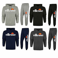 Ellesse Logo Cotton Jogging Suit Tracksuit S M L Xl Hooded Top Bottoms