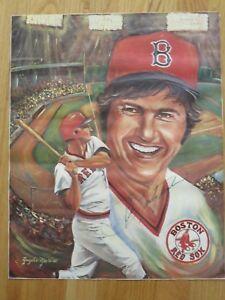 Details About Carl Yastrzemski Signed Angelo Marino Litho Poster Boston Red Sox 1967 Mvp Coa