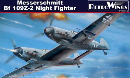 AZmodel RetroWings 1//72 Bf-109 Z-2 Night Fighter limited plastic plastic kit