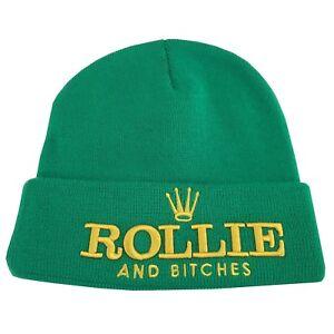 UNNATURAL-BRAND-cappello-unisex-verde-taglia-unica-maglia-elasticizzata-ROLLIE