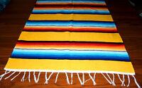 Serape Table Runner Table Topper 2x5' Southwestern Fiesta Lightweight Yellow