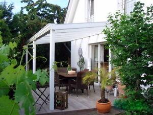 terrassendach bausatz alu 4 x 4 m pergola berdachung terrassen berdachung opal ebay. Black Bedroom Furniture Sets. Home Design Ideas