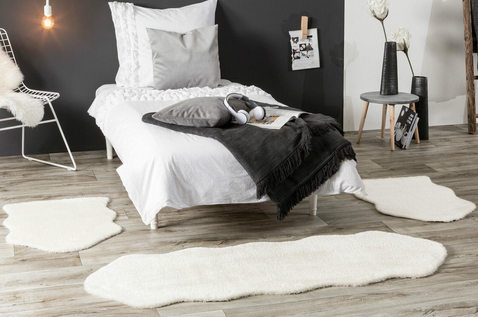 Bettumrandung Schaffell Bettvorleger Kunstfell Schlafzimmer
